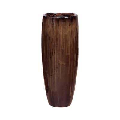 39 in. Java Round Ceramic Cigar Jar/Planter