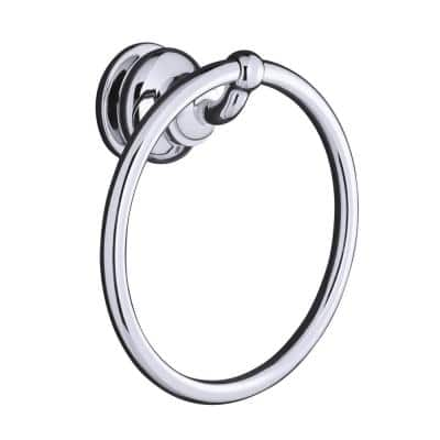 Fairfax 7-1/2 in. Towel Ring in Polished Chrome