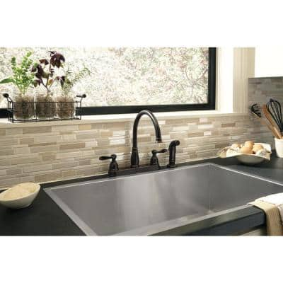 Windemere 2-Handle Standard Kitchen Faucet with Side Sprayer in Oil Rubbed Bronze