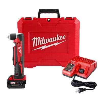 M18 18-Volt Lithium-Ion Cordless 3/8 in. Right Angle Drill Kit w/one 3.0 Ah Batteries, Charger, Hard Case