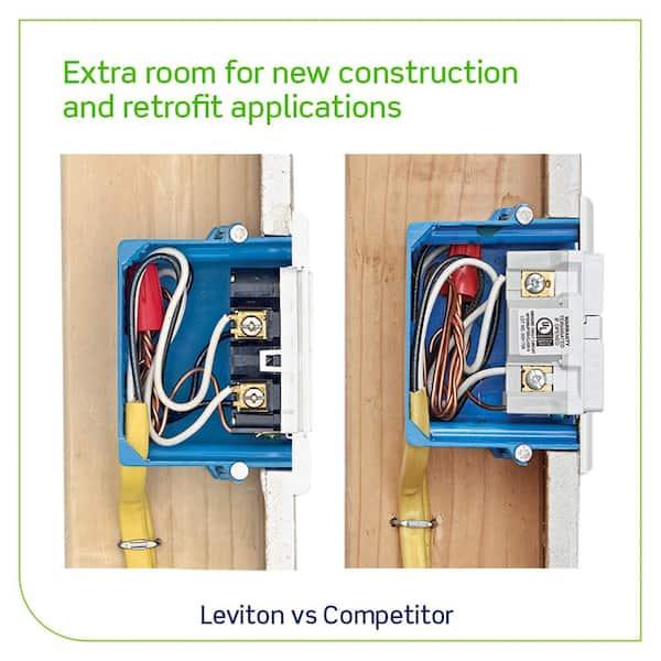 Leviton GFCI Outlet 20 Amp Tamper-Resistant Slim Outlet GFNT2-RW BRAND NEW *