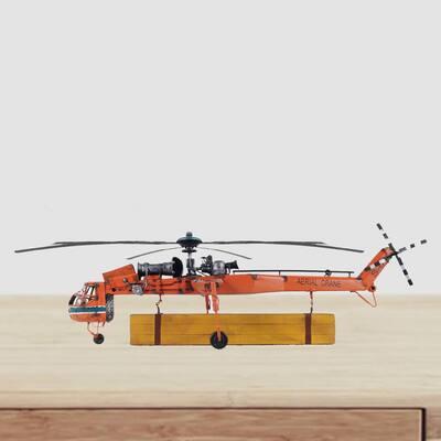 Dahlia Aerial Crane Lifting Helicopter LED Sculpture