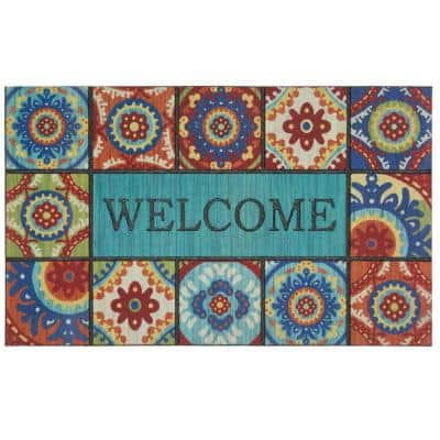 Welcome Exotic Tiles 18 in. x 30 in. Doorscapes Mat