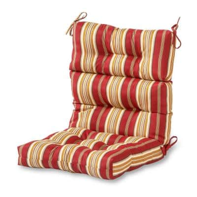 Roma Stripe Outdoor High Back Dining Chair Cushion