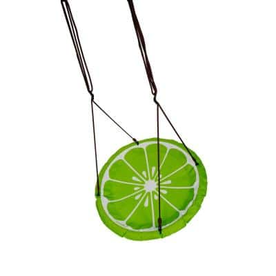 Lime Slice 40 in. Round Multi-Person Swing