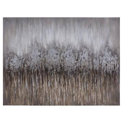 36 in. H x 48 in. W Cotton Tops Artwork in Canvas