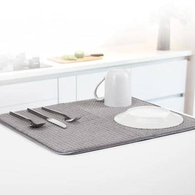 Anti-Bacterial Gray Drying Mat