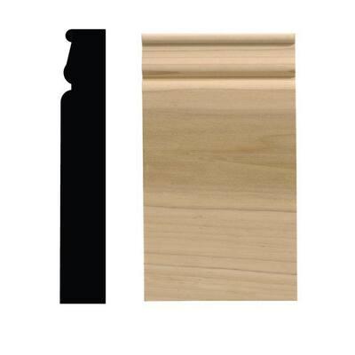 888PB 1-1/16 in. x 3-1/4 in. x 6-1/2 in. White Hardwood Plinth Block Moulding
