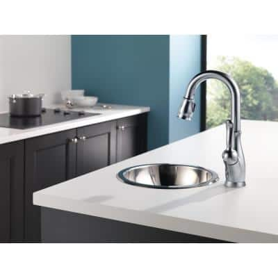 Leland Single-Handle Bar Faucet with MagnaTite Docking in Arctic Stainless