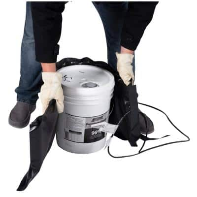 Insulated 5-Gal. PRO Model Bucket Heating Blanket - Pail Heater, Adjustable Controller, Max Temp 145°F