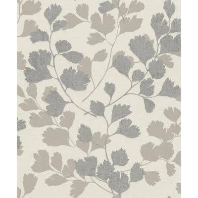 Ripert Silver Leaf Silhouette Vinyl Strippable Roll (Covers 56.4 sq. ft.)