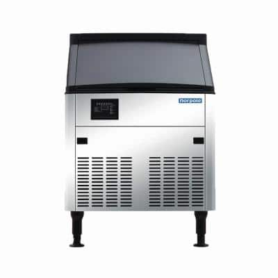 280 lbs. Commercial Freestanding Ice Maker in Stainless Steel