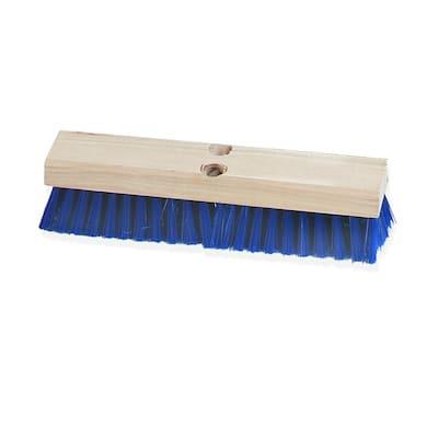 12 in. Floor and Deck Scrub Brush Stiff Polypropylene Bristle in Blue (Case of 12)