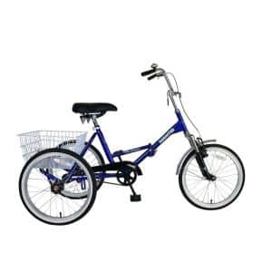 Tri-Rad Folding Adult Tricycle, 20 in. Wheels, 16 in. Frame, Unisex in Blue