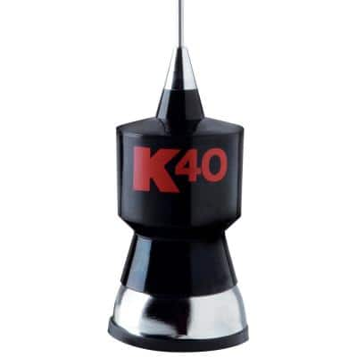 CB Antenna Kit with Stainless Steel Whip in Black with Red K40 Logo, 57.25 in.