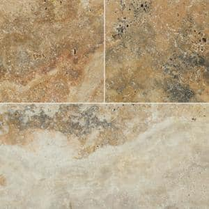 Silver 16 in. x 24 in. Gray Tumbled Travertine Paver Tile (15 Pieces/40.05 Sq. Ft./Pallet)