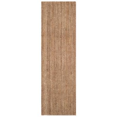 Natural Fiber Beige/Gray 2 ft. 6 in. x 12 ft. Indoor Runner Rug