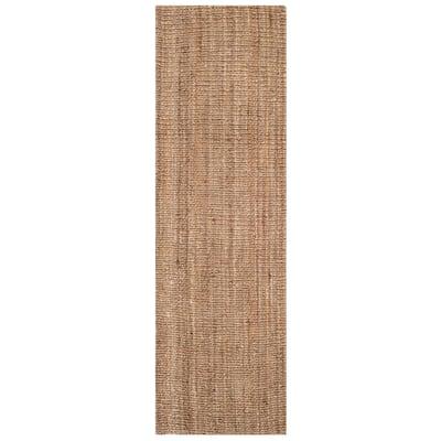 Natural Fiber Beige/Gray 2 ft. 6 in. x 16 ft. Indoor Runner Rug