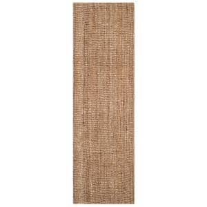 Natural Fiber Beige/Gray 2 ft. 6 in. x 18 ft. Indoor Runner Rug