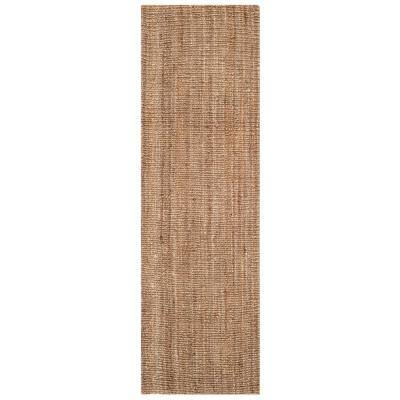Natural Fiber Beige/Gray 2 ft. 6 in. x 22 ft. Indoor Runner Rug