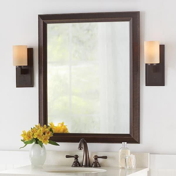 Antique Bronze Finish, Anti Fog Bathroom Mirror
