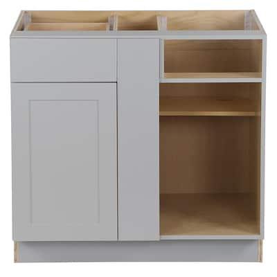 Cambridge Shaker Assembled 36 in. x 34.5 in. x 24.5 in. Blind Base Cabinet in Gray