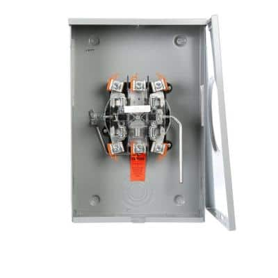 200 Amp 5 Jaw Ringless Lever Bypass OH/UG Fed Meter Socket