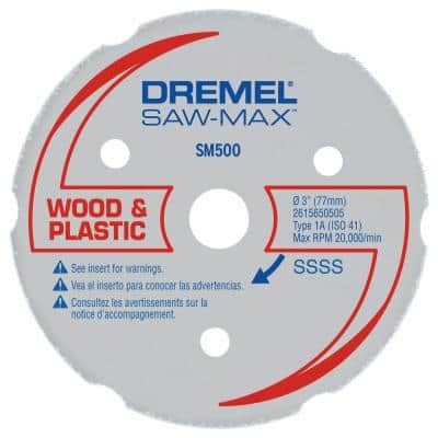 3 In. Saw-Max Wood and Plastic Carbide Wheel