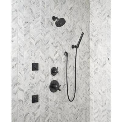 Grail 1-Spray 2 in. Single Wall Mount Handheld Shower Head in Matte Black