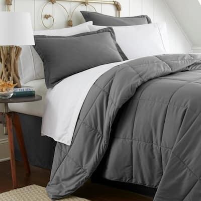 Performance 6-Piece Gray Twin Comforter Set