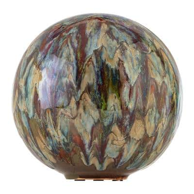 10 in. Tall Indoor/Outdoor Glazed Ceramic Gazing Globe Yard Decoration
