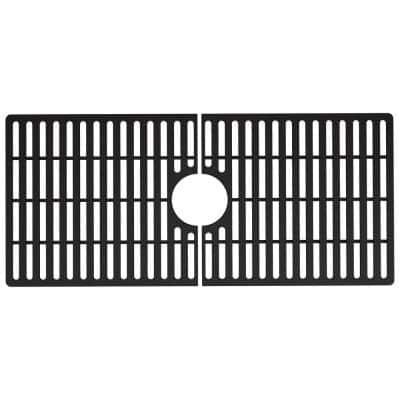 32 in. x 15 in. Silicone Bottom Grid for 36 in. Single Bowl Composite Kitchen Sink in Matte Black