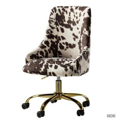 Arce 21 in. Width Standard Cowhide Fabric Task Chair with Adjustable Height