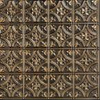 Gothic Reams 2 ft. x 2 ft. Glue Up PVC Ceiling Tile in Antique Gold (100 sq. ft./case)