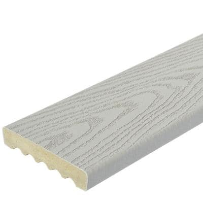 15/16 in. x 5-1/4 in. x 12 ft. Gray Square Edge Capped Composite Decking Board