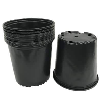 2 Gal. Black Plastic Nursery Pots (12-Pack)