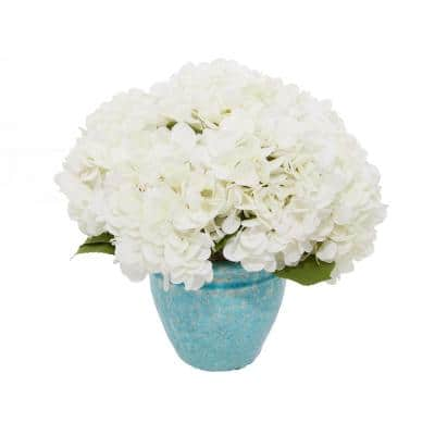 Indoor White Glass Natural Plant Artificial Foliage