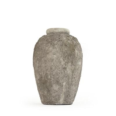 Stone-like Grey Small Decorative Vase