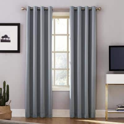 Haze Woven Thermal Blackout Curtain - 52 in. W x 84 in. L