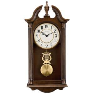 20.5 in. H x 9.75 in. W Pendulum Chime Wall Clock