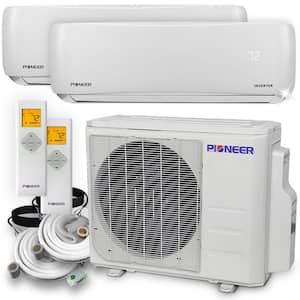 Multi 24000 BTU 2-Ton 21.3 SEER Dual (2) Zone Wall Mount Air Conditioner Heat Pump, 230-Volt 16 ft.