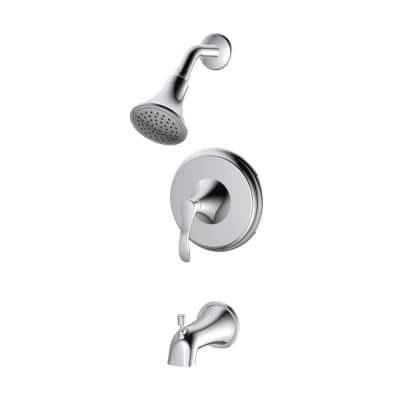 Single-Handle Tub and Shower Trim Kit in Chrome (Valve Not Included)