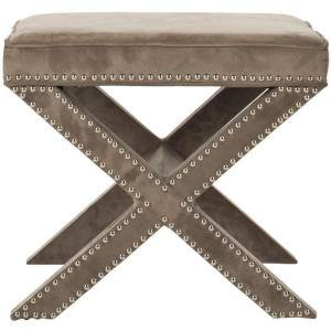Palmer Mushroom Taupe Accent Ottoman