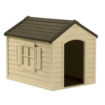 27 in. W x 35 in. D x 29.5 in. H Dog House