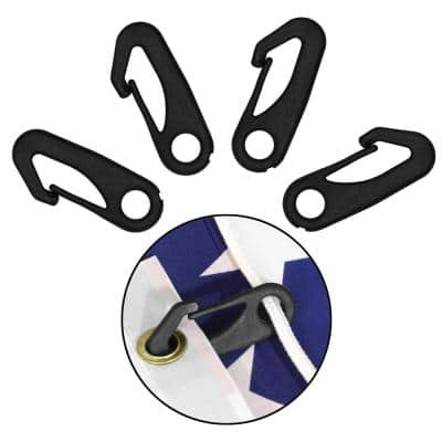 Heavy-Duty Flagpole Snap Hook Clips Flag Pole Attachment Accessory Attach Flag Grommets to Halyard Rope (4-Piece)