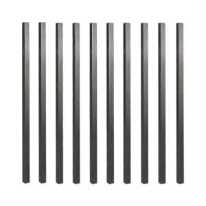 36 in. x 3/4 in. Galvanized Square Balusters (10-Pack)