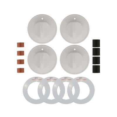 Gas Replacement Knob in White (4-Pack)