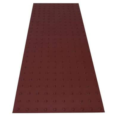 SSTD PowerBond 24 in. x 5 ft. Colonial Red ADA Warning Detectable Tile (Peel and Stick)