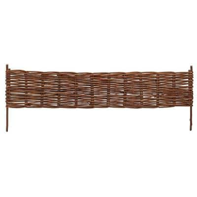 72 in. L x 16 in. W X-Large Woven Willow Flexible Edging (2-Pack)