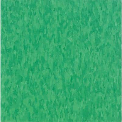 Imperial Texture VCT 12 in. x 12 in. Grabbin Green Standard Excelon Commercial Vinyl Tile (45 sq. ft. / case)
